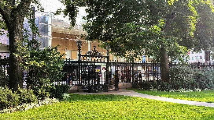 Osgoode Hall front gate Toronto Ontario