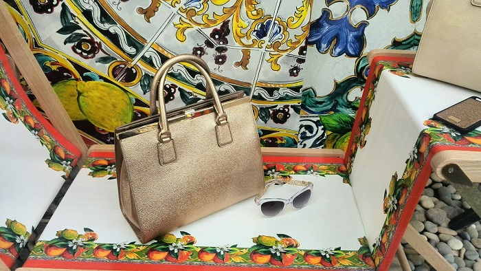 Dolce and Gabbana purse and glasses Spring  2014