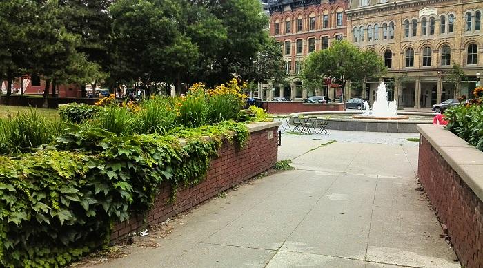 Front Street fountain Toronto Ontario
