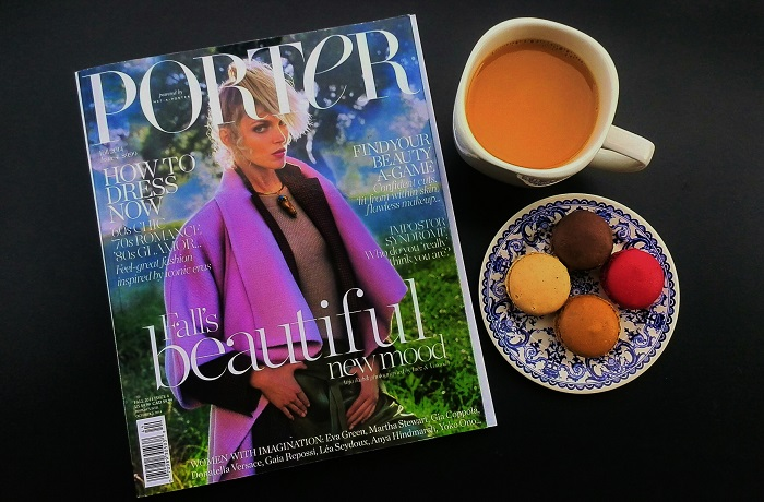 Porter Magazine and macarons