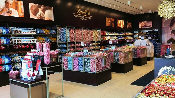 Interior of Lindt Chocolate Store London Ontario
