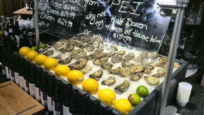 Oyster station at Marche Restaurant Toronto