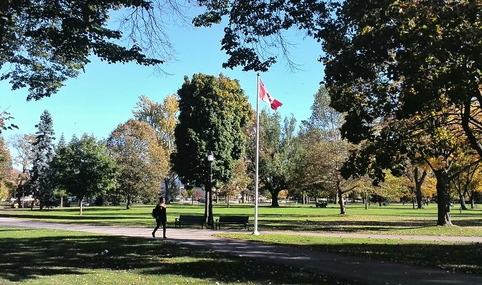 Canadian flag in Victoria Park London Ontario