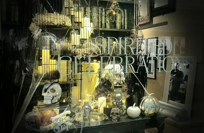 Pottery Barn Halloween Window Display