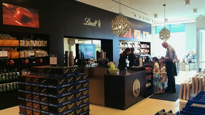 Lindt Store Interior in London Ontario