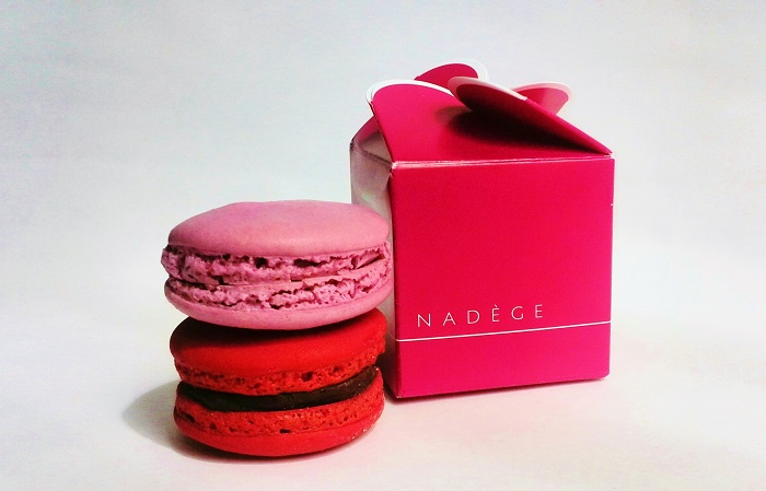Nadege Toronto red and pink macarons