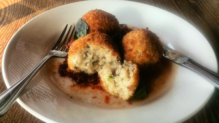 Arancini at Dolcetto Italian Restaurant in London Ontario