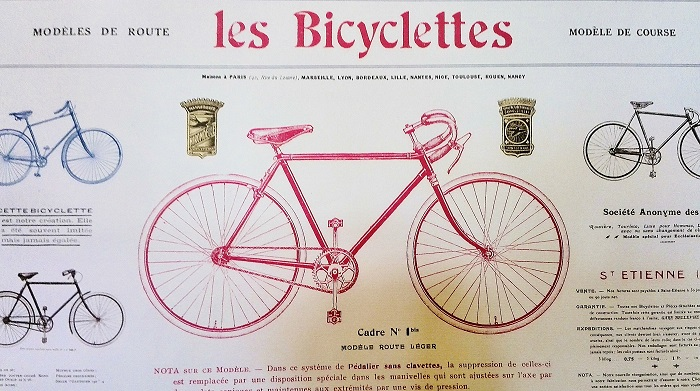 Les Bicyclettes paper at The Paper Place in Toronto