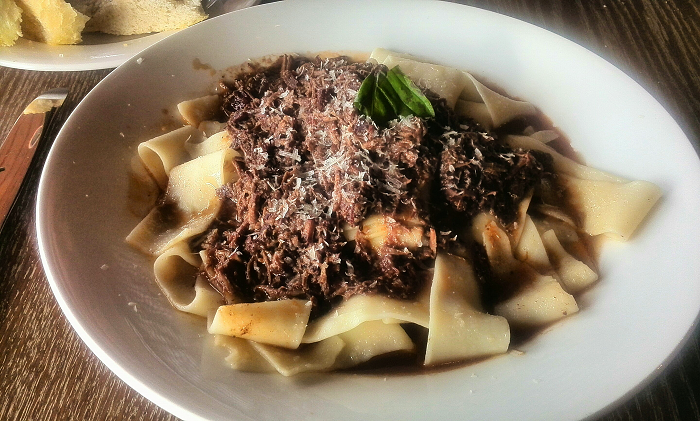 Papardelle with short rib ragu at Dolcetto Italian Restaurant in London Ontario