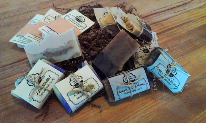 Assortment of natural handcrafted soaps by Clean Treats