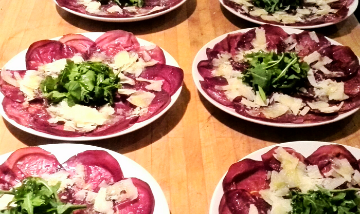 Massimo Bruno Italian Supper Club - Bresaola and arugula