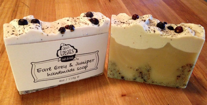 Earl Grey and juniper flavour - natural soap made by Clean Treats in London, Ontario