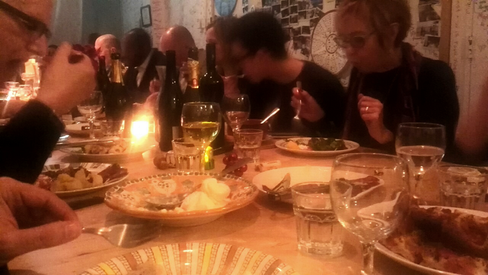 Guests at Massimo Bruno's Buon Natale Supper Club