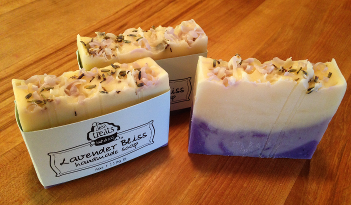 Lavender Bliss - natural homemade soap by Clean Treats Bath & Body