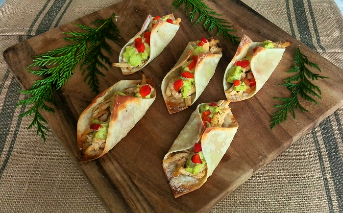 Wonton wrapper taco party appetizer
