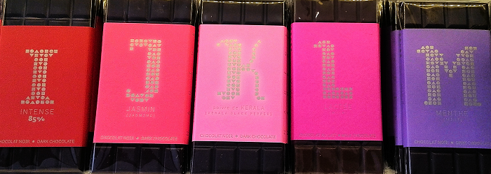 Alphabet chocolate I to M  at Nadege - Yonge St. Rosedale Toronto