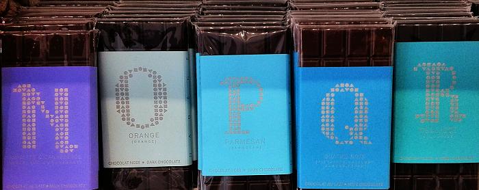 Alphabet chocolate N to R - Nadege Patisserie Yonge St Toronto