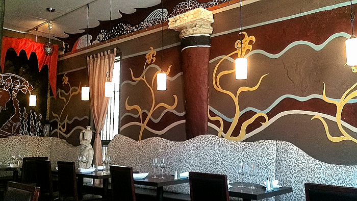 Dining room at Mythic Grill