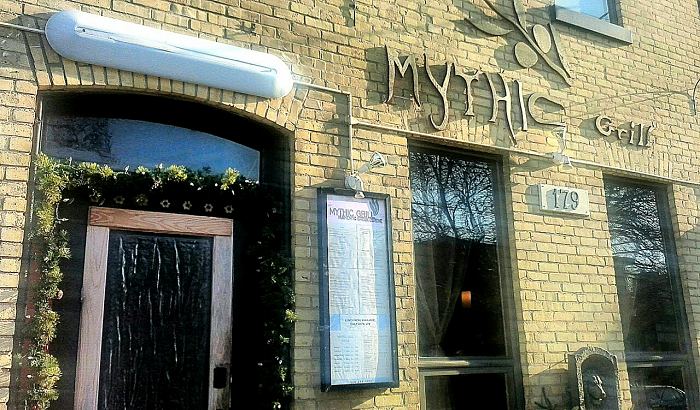 Entrance to Mythic Grill
