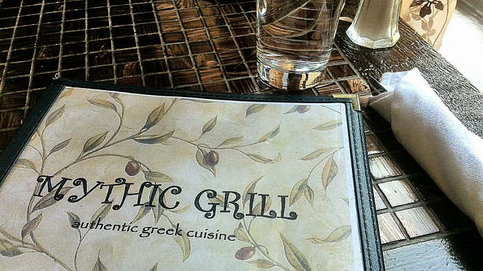 Mythic Grill menu cover