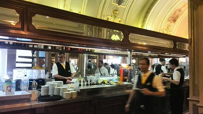 Service counter Caffe Cordina in Valletta