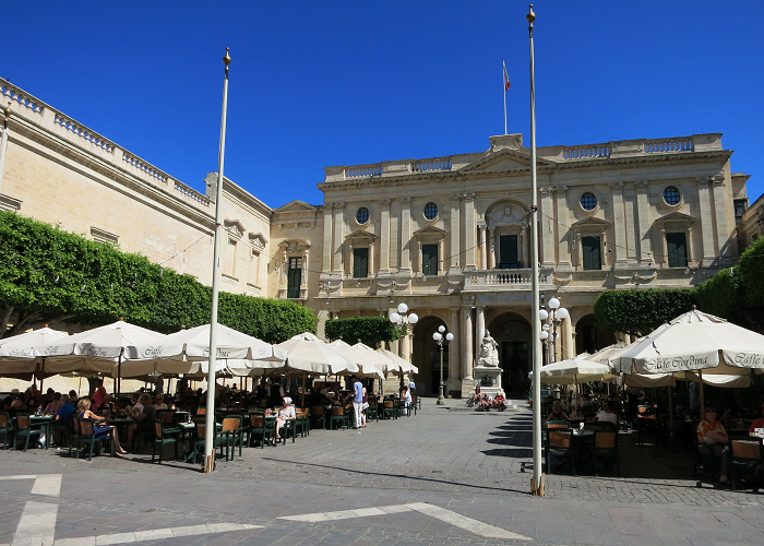 Caffe Cordina Victoria Square in Valletta