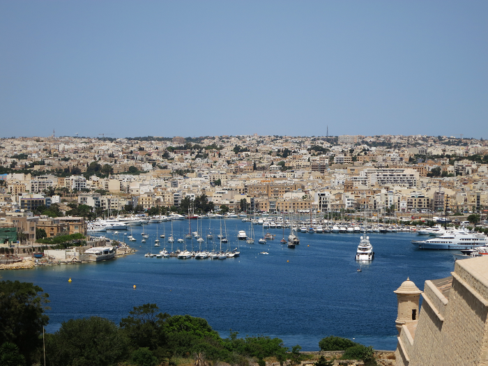 View of Sliema from Hastings Gardens Valletta