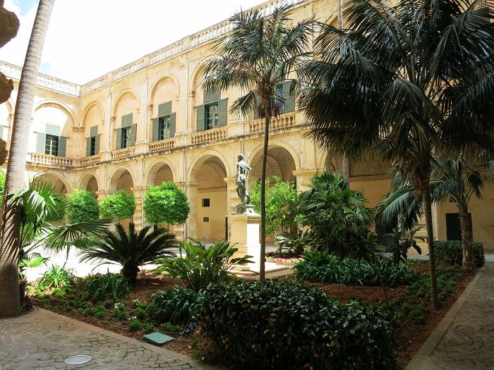 Interior garden Grandmaster's Palace Valletta Malta