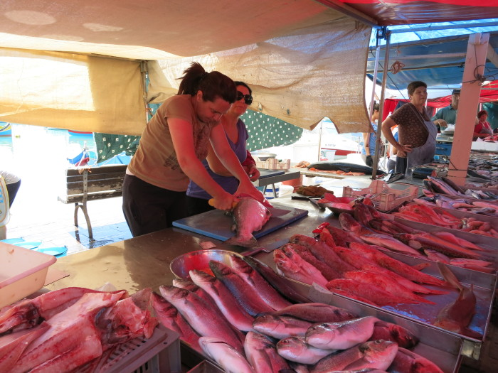 Fresh fish at Sunday fish market in Marsaxlokk Malta