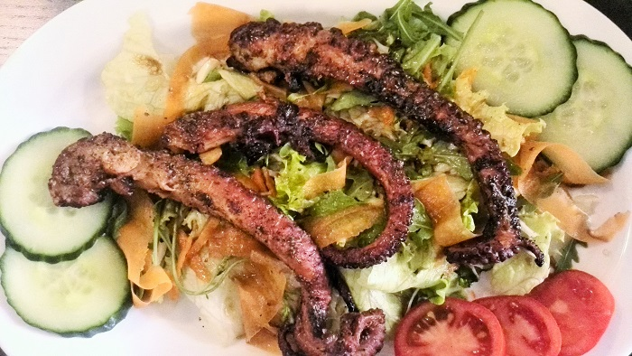 Grilled Octopus Salad from Elias Greek Restaurant in Valletta