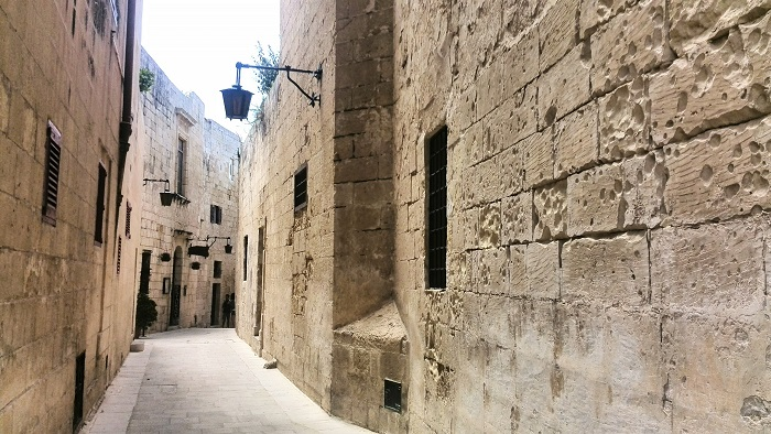 Narrow street in the Silent City, Mdina Malta