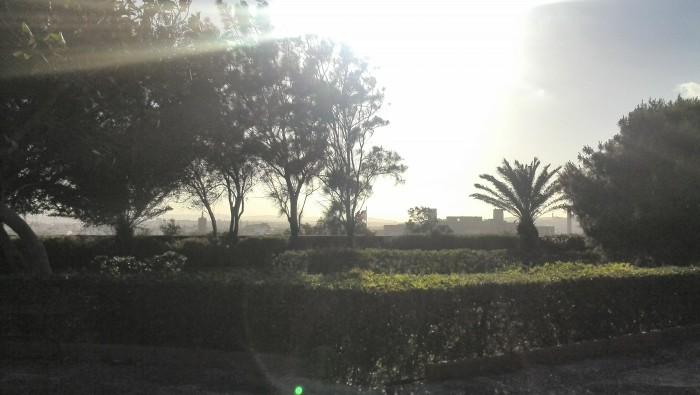 Sunset Argotti Botanical Garden Valletta