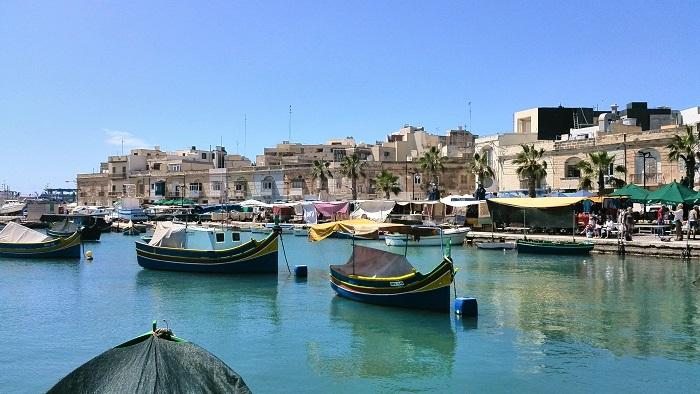 Marsaxlokk Malta fishing boats