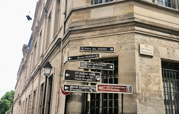 Steet signs in Marais District | Paris