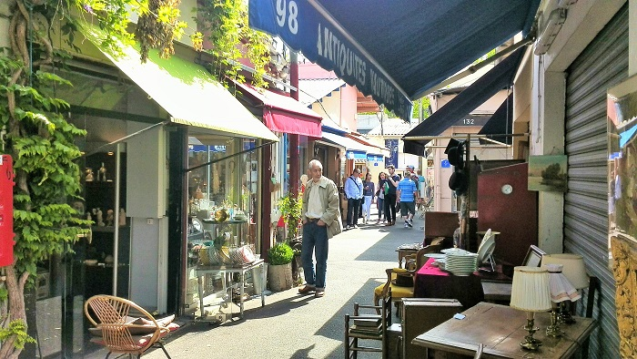 Flea market stalls at the Marche aux Puces St Ouen | Clignancourt in Paris