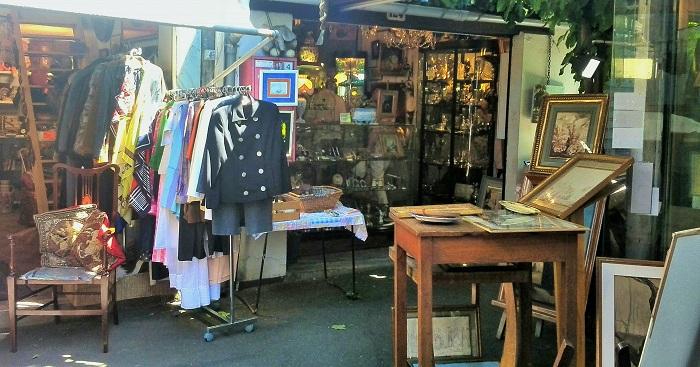 Flea market stalls, Marche aux Puces St Ouen, Paris | Clignancourt