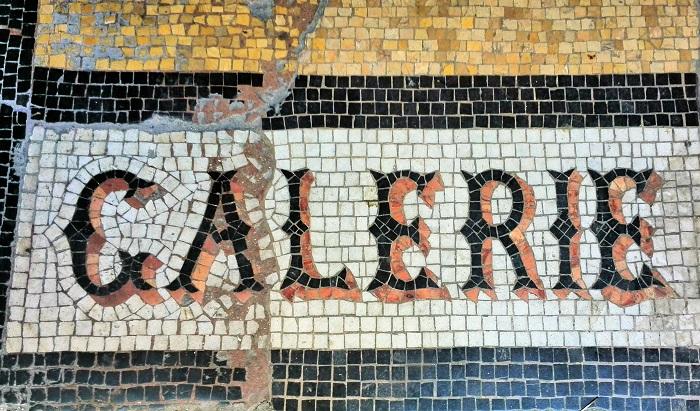 Floor Mosaic at Galerie Vivienne