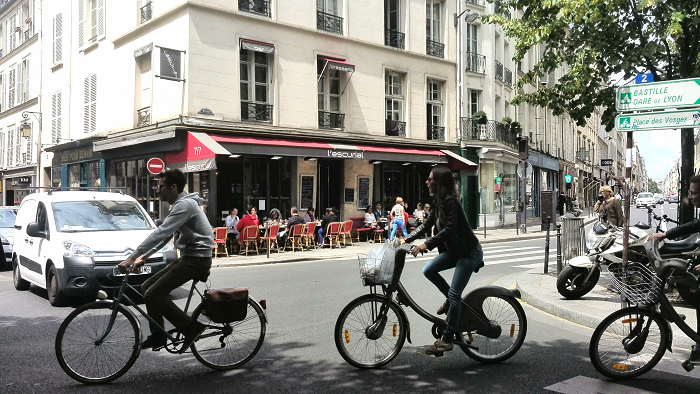 Bicycles in the Marais, Paris