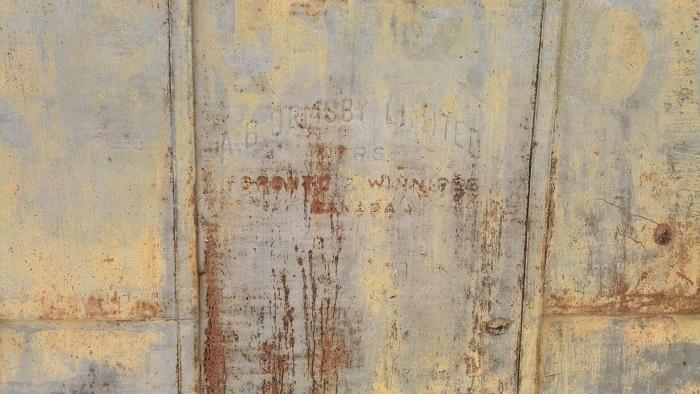 Detail of exterior door, Alton Mill Art Centre, Caledon