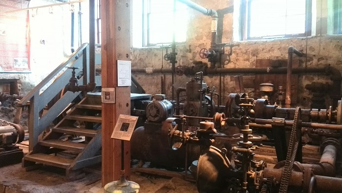 Mill mechanics, Museum, Alton Mill Art Centre, Caledon