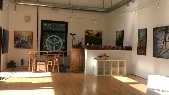 Artist studio, Alton Mill Art Centre, Caledon