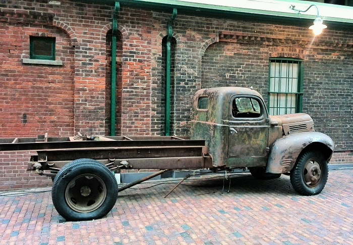 Old truck, Christmas Market, Distillery District, Toronto