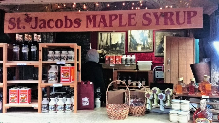 St. Jacobs Maple Syrup stall, Distillery District, Toronto