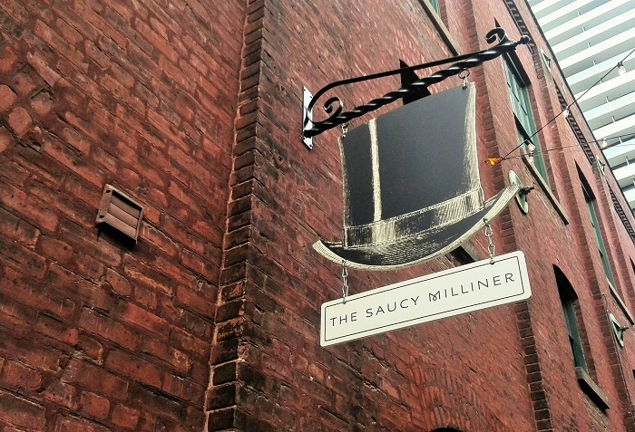 The Saucy Milliner, Distillery District, Toronto