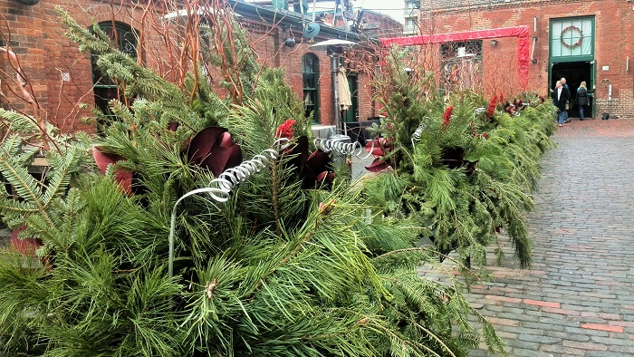 Holiday decorations, Distillery District, Toronto
