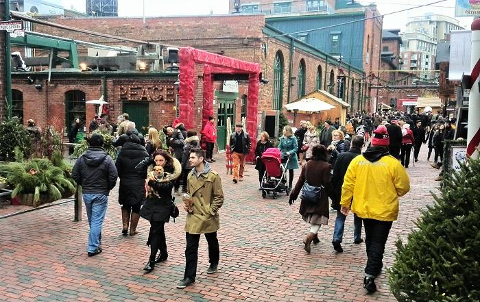 Pedestrians, Distillery District, Toronto