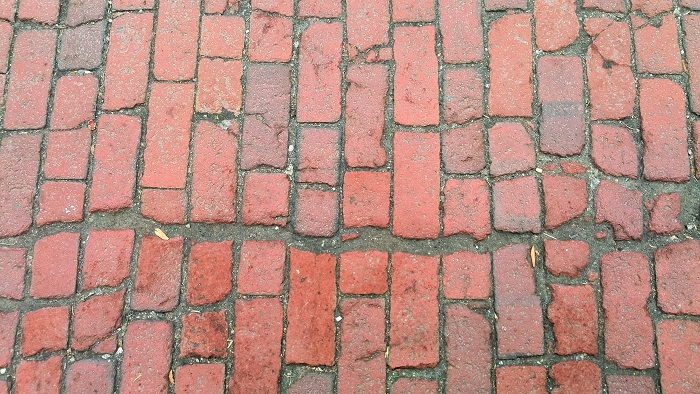 Brick pavement, Distillery District, Toronto