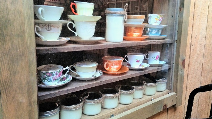 Ceramic cup stall, Christmas Market, Distillery District, Toronto