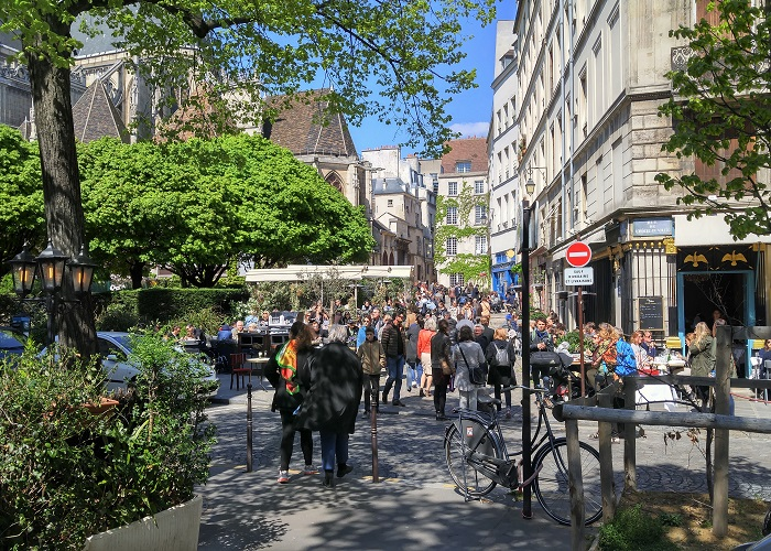 Street crowds, Paris, France