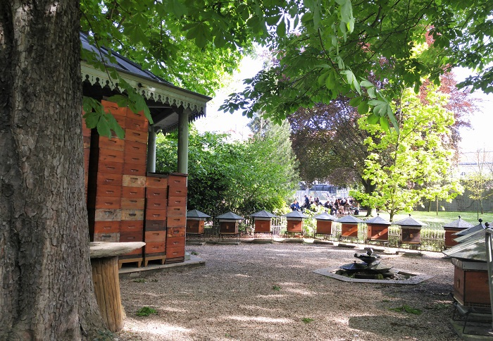 Bee hives, Jardin de Luxembourg, Paris, France